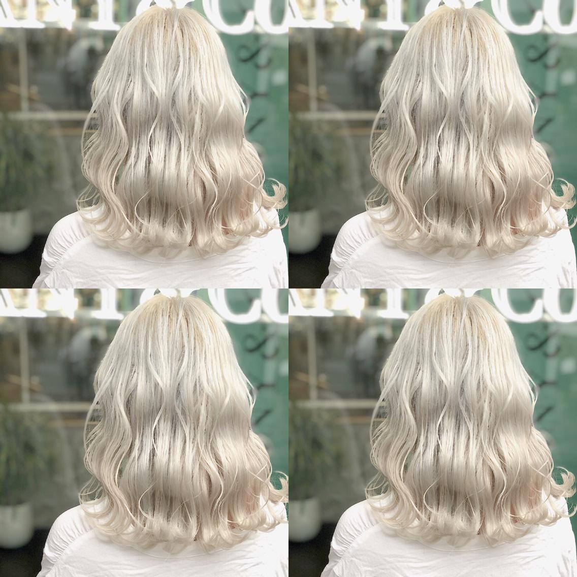 #カラー ホワイトカラー🇰🇷 ・perfect White・ ✳︎10800円〜✳︎ ✳︎minaでブリーチ3〜5回出来れば綺麗なホワイトヘアを作れます👻 ✳︎ ✳︎ダメージが強いとブリーチが出来ない場合もあるのでご了承ください ✳︎ムラシャンはエンシェールズのシャンプーを薄めて使うのがオススメ🧖🏻♀️ ✳︎ ✳︎黒染めや縮毛、デジパをしていなくてダメージがひどくなければおおよそ4〜5回ブリーチで出来ます🦄✳︎ 最後まで可愛く仕上げます🇰🇷 ✳︎ お店の近くにあるティファニーカフェで映えな写真もプレゼントします🦄 ✳︎ ✳︎黒染め履歴、ダメージが強い方はでホワイトにはならないです💦  #原宿#ハイトーンカラー#シルバーカラー#ヘアカラー#ネイビーカラー#ホワイトカラー#ブロンドヘアー#アッシュ#ケアブリーチ#ブロンドカラー#派手髪#ラベンダーカラー#ミルクティーカラー#アッシュ#ミルクティーベージュ#ブルージュ#グレージュ#ピンクカラー#インナーカラー#ハイライトカラー#グラデーションカラー#bts#seventeen#twice ✳︎ ✳︎ ✳︎