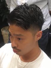 外国人風グラデーション 東京コレクションヘア担当 大野慎司のメンズヘアスタイル・髪型
