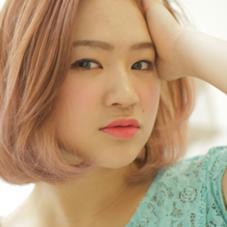 おすすめ【コース1】透き通るピンクカラーとぱつっとしたカットが可愛い♡ 心斎橋女性美容師トップスタイリストのスタイル