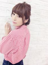ルーズな波ウェーブでざっくりまとめたラフなアレンジ♡ フォルテ中田店所属・美容師aiのスタイル