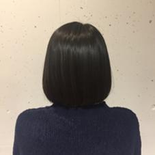 ブローいらずのツヤツヤボブ☆ NERO  HAIR AND LIFE STORE所属・yabeharukaのスタイル