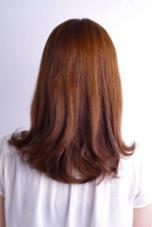 ワンカールパーマ よりロングヘアーを楽し見たい方へ、毛先だけワンカールのパーマです ブローもしやすくダメージも少ないのがおすすめです Nijichaw所属・梨羽由里子のスタイル