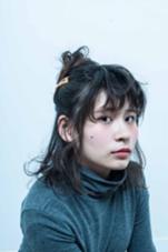 可愛いくハーフアップに☆ルーズなスタイル MODEK's 心斎橋店所属・西本真優のスタイル