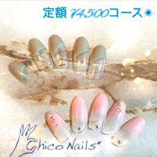 定額コースA♡カラーチェンジok♡こちらが特別価格になります♡ ネイリストchicoのフォト