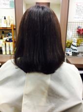 多毛の方だったので毛先を2センチ切って毛量を少なくしました☆*。 齋藤咲奈恵のスタイル