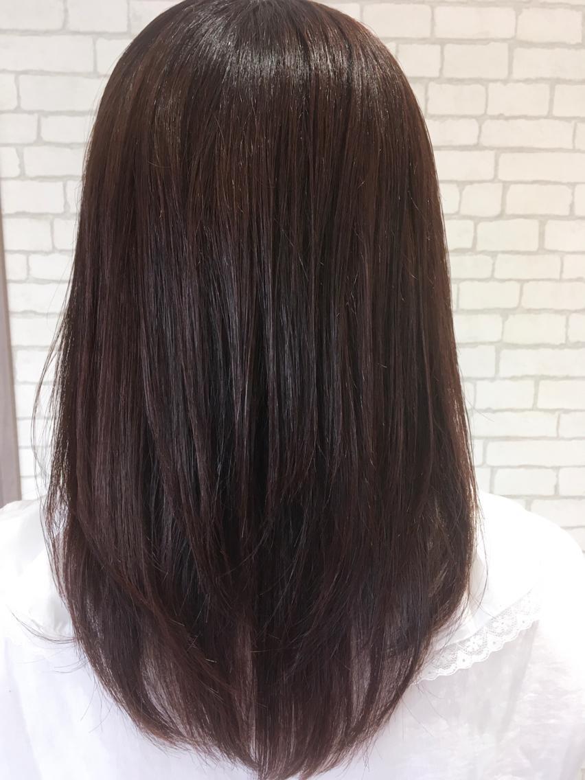 #ロング #カラー 髪の毛に良くないのは日頃の自然乾燥だったりさまざまですが、ダメージの少ないものでもアルカリ剤なので髪の毛が良いとされる、弱酸性のカラーでお客様のダメージを最小限に仕上げています。何かあればスタッフにご相談ください。