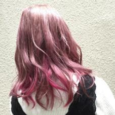 春カラー ピンク系のダブルカラー 色が落ちてきても楽しめるカラーの仕上がりです Coni所属・志治幸佳のスタイル