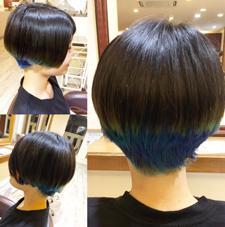 特殊カラー♡ブルーメインにバイオレットも入れて他と違うグラデーションの効いた特殊カラー♡ 〜ダブルカラー〜 ルプラ チッタ所属・東実咲のスタイル