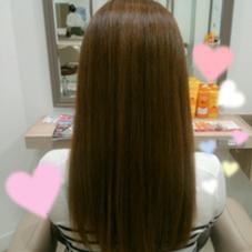 縮毛矯正でツヤストレート✨ 毛先をまとまりやすく整えました✨ Ash国立所属・飯島裕子のスタイル