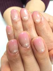 カラーグラデーション ピンク ネイル&脱毛サロン ビュキュア所属・西村洋子のフォト