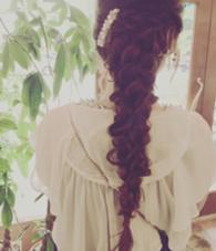 ヘアアレンジ 編み編みです\( ˆoˆ )/ お呼ばれヘアもお任せあれ♪ 椿原眞伊のスタイル