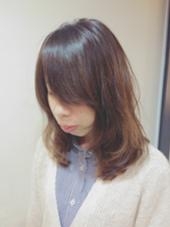 ロングスタイル パーマでゆるふわ ex-fa  hair garden所属・澤田彩香のスタイル