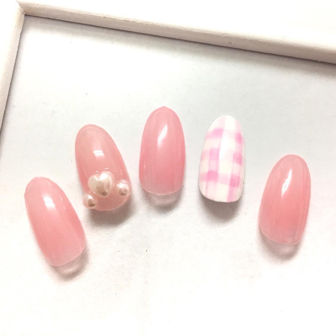 春ギンガムチェック❤  sunshine nail所属・.kokoroのネイルデザイン ...