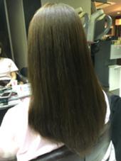 全体的に3〜4㎝✂︎cut  カラーはマットでトーンダウン‼︎  ありがとうございました✴︎^ ^ Hair&Beautymiq西新井店所属・岩永あかりのスタイル