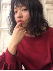 ブリーチオンカラーでパープルに♪♪低明度低彩度なのに透け感もばっちりです☆ minim hair所属・ハマダマユミ。のスタイル