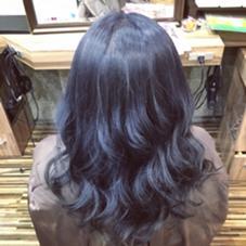 ブルーグレー  ダークブルー  2〜3回ブリーチ必要です(^O^) Hair Salon Be-one所属・田中陸のスタイル