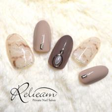 2017年のキャンペーンネイル② 天然石ネイルを冬カラーで( ˊᵕˋ* )♡ Private Nail Salon Relieam-リリアム-所属・RelieamAtsumiのフォト