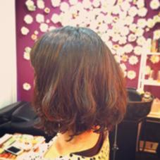 トリートメントデジタルパーマで髪に優しくカール Hair&Make   JUNO  (ヘアメイク ジュノ)所属・小島早苗のスタイル