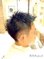 メンズショート メリハリカット  ジェル仕上げ  kazuカット RISA hair design所属・内瀬戸雄将のスタイル