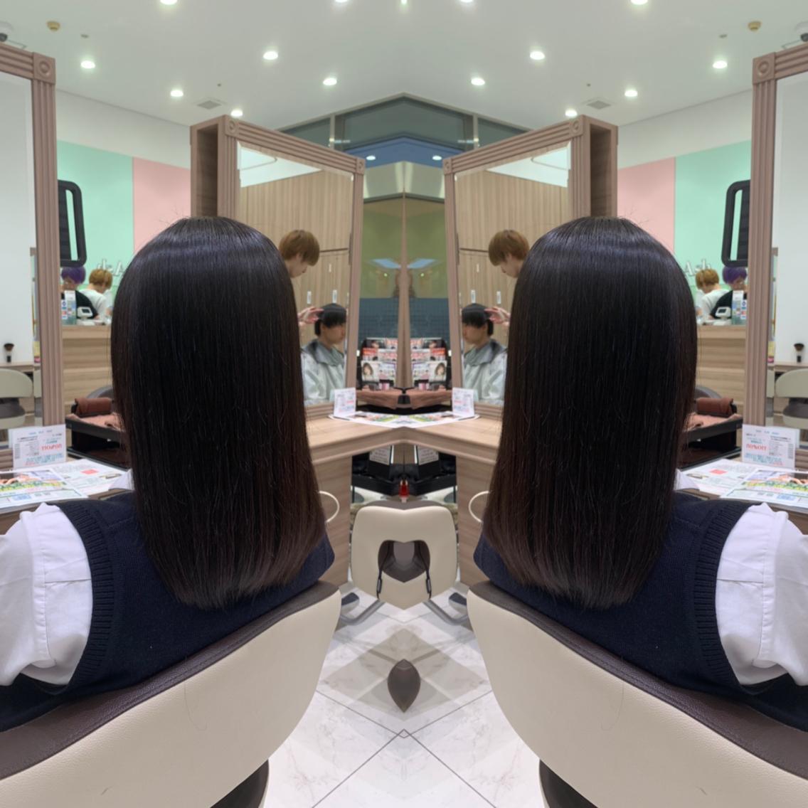 #セミロング #パーマ 髪を綺麗に伸ばしたい方へ…秋の縮毛矯正でサラツヤに💇♀️✨