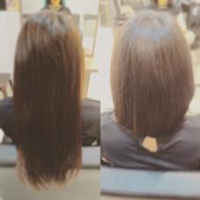 バッサリ切りました✂︎♡ 腰くらいのロングから肩の長さに!♫ hair gloss所属・熊澤愛のスタイル