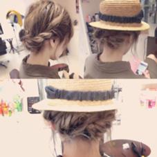 帽子に似合うヘアアレンジ! 南智恵のスタイル