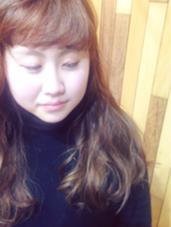 パツっとワンレンスタイル。 春カラーで軽やかに♩*゜ hair lounge ungu所属・MatsukiChihiroのスタイル