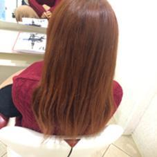 Red  赤を強めに。寒い冬に暖かみのある髪でアウターにもバッチリ似合います!  冬は赤系オーダー多いですね。 EARTH行徳店所属・青木俊のスタイル