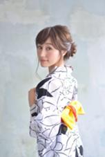 浴衣着付け+ヘアアレンジ=¥4500(税抜) 齊藤亜弥のスタイル
