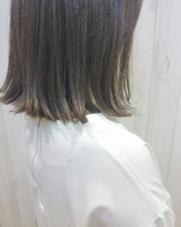 トレンドの切りっぱなしスタイル! カラーはもちろんイルミナアッシュ✧* ALLURE HAIR〜elfi〜所属・間嶋紗由美のスタイル