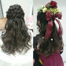 卒業式のヘアアレンジ ハーフアップ Ash三鷹店所属・なかやまちかのスタイル