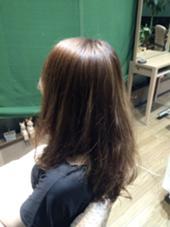 縮毛矯正+オーガニックデジタルパーマ  中間まで縮毛矯正で癖をのばして 毛先はパーマ 広がりやすい方も扱いやすくなります! Hair  and Heart Welina所属・石井文乃のスタイル
