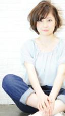 脱力系ショート×プラチナベージュ☆ hair brace(ヘアーブレイス)所属・山上太一のスタイル
