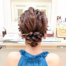 *:.。.:*゜~シニヨンstyle~゜*:.。.:*  シンプルなシニヨンstyleです✨ ロープ編みでもこもこ感を出しました! Hair design Aeolus所属・親泊功平のスタイル