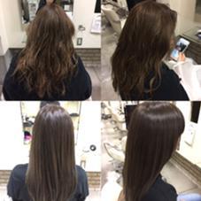 落ちやすい髪に暗めだけど、透明感のある、グレージュグラデーション New York所属・桐生洸佑のスタイル