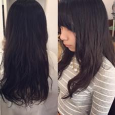 ナチュラルパーマで黒髪でもおしゃれな雰囲気になるようにかけました☆ hair & relaxation despacio所属・井之上恵理のスタイル