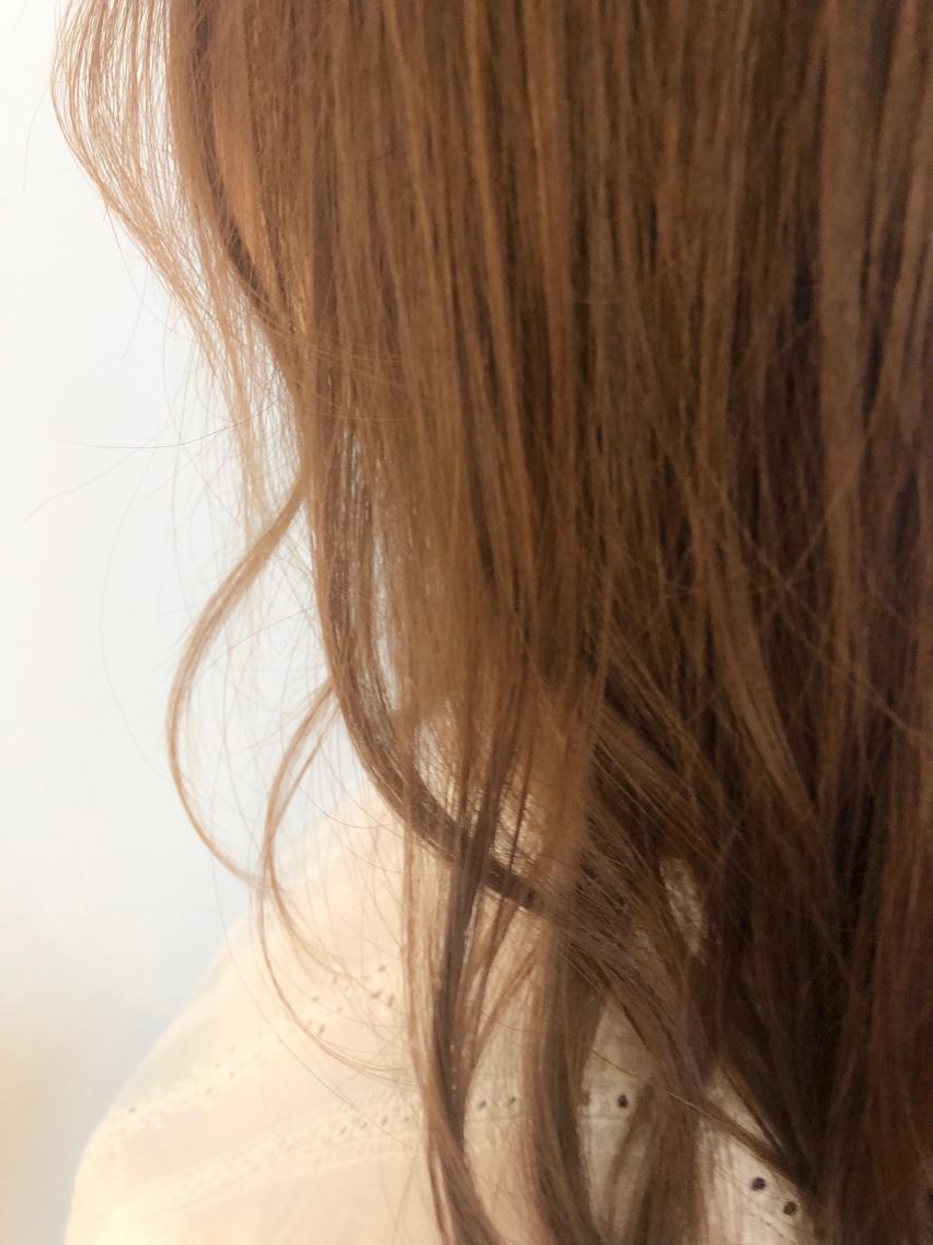 #セミロング #カラー Color 【 hazel  beige 】