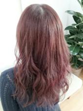 NOブリーチBerrypinkカラー☆ HAIR&MAKE POSH 葛西店所属・沼田知美のスタイル