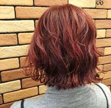 ホットレッドブラウン❣️ ブリーチなしでこの発色っ! 色落ちしてもオレンジっぽくならないように紫もちょっと混ぜて✨ Neolive  eclat所属・今野莉菜のスタイル