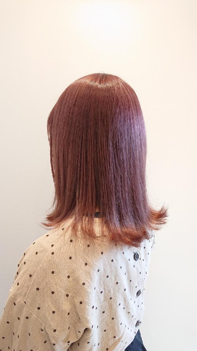 #カラー ブリーチonカラーでピンクにしました!