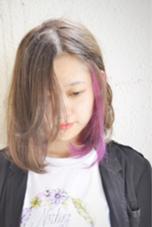 インナーカラー✖︎ピンクパープル hair&nail FUNTAS所属・大山慎矢のスタイル