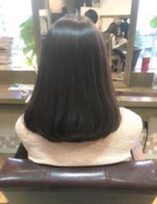 ミディアム 艶髪に。