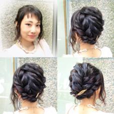 ショートボブを立体感のあるアップスタイルに✨ Hair design Aeolus所属・親泊功平のスタイル
