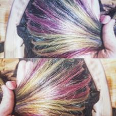 レインボーのデザインカラーです! CLLN hair design 所属・kanata〈店長〉 のスタイル