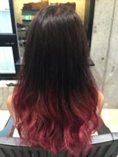 ピンクグラデーション  毛先のみのブリーチと2色のカラーで仕上げてます! ever Harajuku所属・スタイリスト オオヤカズキのスタイル