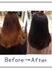 髪の毛を綺麗にしたい!! お客様からお声をかけ頂きました^ ^ 髪の毛が乾燥しきってツヤ感が減ってしまってます。 極力ダメージをしないよう、酸性カラーで染めました^ ^ 大人なアッシュ系ダークブラウンに!! ツヤ感、手触りサラサラです^ ^  髪質改善ヘアカラー&トリートメント 7000円〜   ✨フリーランス✨所属・Keitakumemuraのスタイル