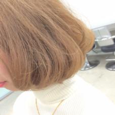 ボブ×ベージュ ダブルカラーで透明感を✨ KENJE  yokohama所属・成田峻徳のスタイル