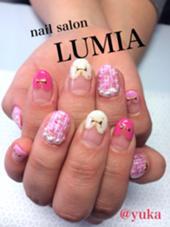 ピンク、ベージュは豊富に取り揃えております(^^) nail salon LUMIA所属・nailsalonLUMIAのフォト