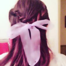 ヘアアレンジ‼︎靴紐を使いました♡ wiz志津・ユーカリヶ丘店所属・星川葉月のスタイル