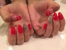 ミラーとリップネイルを合わせました♡♡ trico nail&SPA梅田茶屋町店所属・吉元麻奈美のフォト